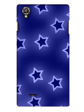 Snooky Digital Print Hard Back Case Cover For Lava Iris 800 - Blue