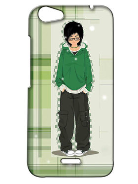 Snooky Digital Print Hard Back Case Cover For Micromax Bolt Q338 - Green
