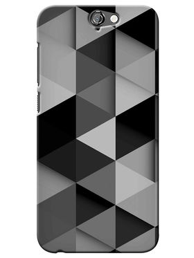 Snooky Digital Print Hard Back Case Cover For HTC One A9 - Grey