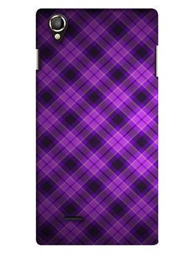 Snooky Digital Print Hard Back Case Cover For Lava Iris 800 - Purple