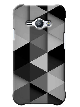 Snooky Digital Print Hard Back Case Cover For Samsung Galaxy J1 Ace - Grey