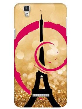 Snooky Digital Print Hard Back Case Cover For Coolpad Dazen F2 - Golden