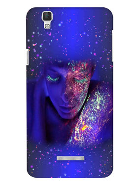 Snooky Digital Print Hard Back Case Cover For Coolpad Dazen F2 - Blue