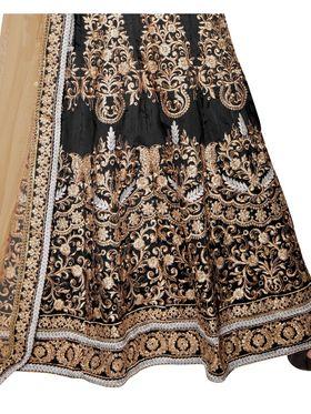 Viva N Diva Embroidered Banglori Silk Semi Stitched Anarkali Suit -vnd01