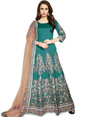 Viva N Diva Embroidered Banglori Silk Semi Stitched Suit -vnd02