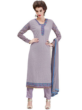 Viva N Diva Embroidered Georgette Semi Stitched Suit -vnd09