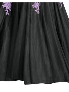 Viva N Diva Embroidered Dobby Net Semi Stitched Gown -vnd21