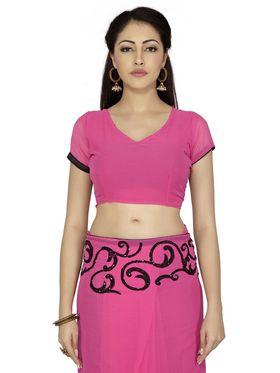 Designersareez Embroidered Chiffon Saree -1993