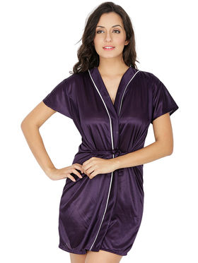 Set of 5 Klamotten Solid Satin Nightwear-155K-N63B-60C