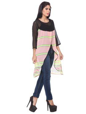Lavennder Georgette Solid Dresses -623615
