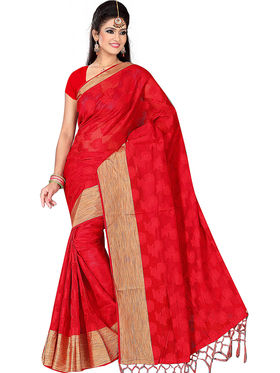 Adah Fashions Red South Silk Saree -888-102