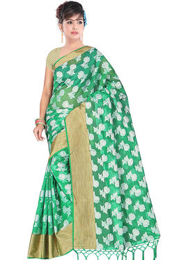 Adah Fashions Green South Silk Saree -888-105
