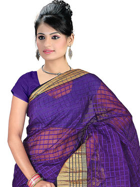 Adah Fashions Dark Blue South Silk Saree -888-124