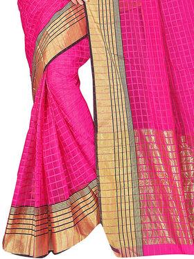 Adah Fashions Pink South Silk Saree -888-126