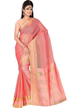 Adah Fashions Pink South Silk Saree -888-128
