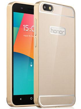 Aeoss 2 in 1 Aluminum Metal Frame Bumper Case & Back Cover For Honor 4x - Golden