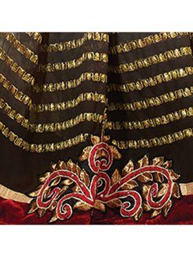 Khushali Fashion Embroidered Georgette Half & Half Saree(Multi,Green)_ASFPVA357