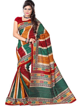 Smruti Pack of 3 Bhagalpuri Sarees - By Adah Fashions