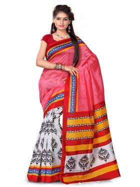 Mahotsav Pack of 5 Art Silk Sarees - By Adah Fashions