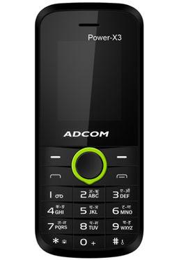 Adcom X3 Power Dual Sim Mobile - Black & Green