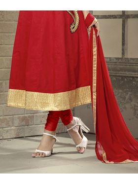 Viva N Diva Semi Stitched Cotton Embroidered Suit Amigo-12003