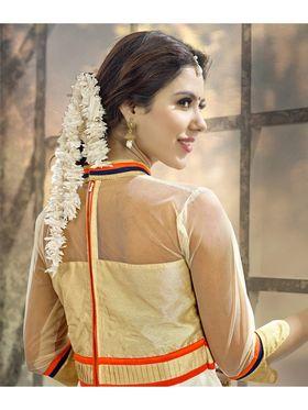 Viva N Diva Semi Stitched Cotton Embroidered Suit Amigo-12009