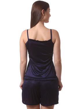 Set Of 3 Being Fab Satin Lycra Solid Nightwear -fbl20