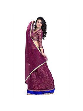 Styles Closet Designer Net & Silk Semi Stitched Lehenga Choli -Bnd-Hl2