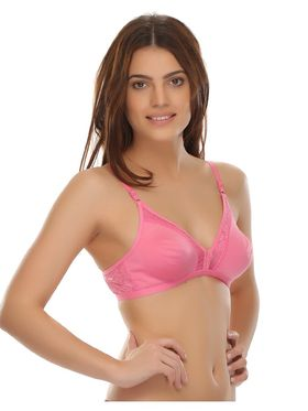 Clovia Cotton Blend Solid Bra -BR0238A22