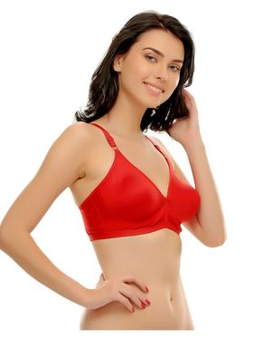 Clovia Cotton Blend Solid Bra -BRF236P04
