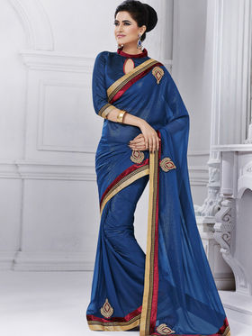 Bahubali Pakiza Embroidered Saree - Violet - GA.50209