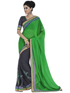 Stunning Pack of 3 Embroidered Sarees - By Bahubali