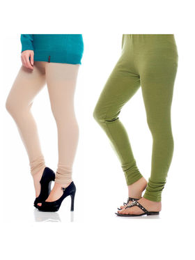 Combo of 2 Arisha Woolen Solid Legging -CMBB10