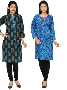 Combo of 2 Arisha Cotton Printed Kurtis -Combo04