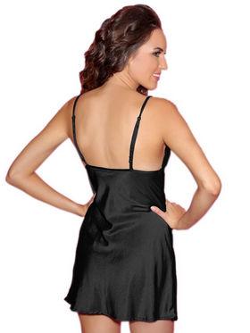 Clovia Blended Plain Short Slip - Black