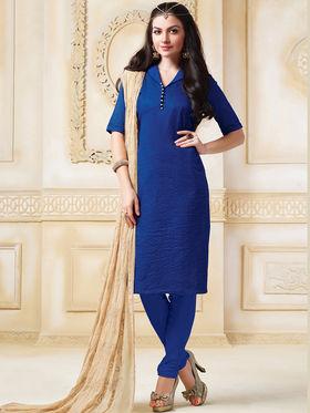 Viva N Diva Banarasi Chanderi Embroidered Unstitched Suit Color-Blossom-03-1049