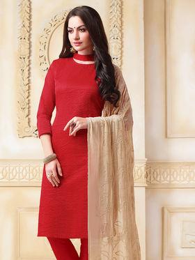 Viva N Diva Banarasi Chanderi Embroidered Unstitched Suit Color-Blossom-03-1050