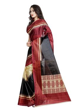 Pack of 2 Printed Taffeta Saree-swb10