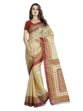Pack of 5 Printed Taffeta Saree-swb25
