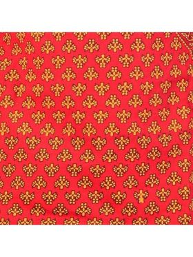 Little India Pure Cotton Printed Angrakha Dhoti - Red