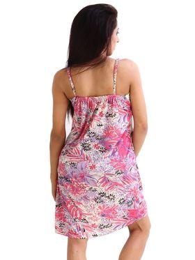 Fasense Hosiery Cotton Printed Nightwear Short Nighty -DP014B1