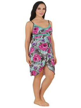 Fasense Serena Floral Print Nightwear Short Nighty & Thong -DP161A0