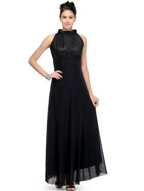 Arisha Viscose Solid Dress DRS1026_Blk