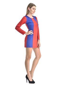 Arisha Viscose Solid Dress DRS1067_Rd-Blu