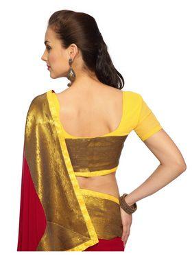 Designer Sareez Faux georgette Embroidered Saree - maroon-1486
