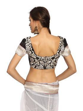 Designer Sareez Net Embroidered Saree - White-1454