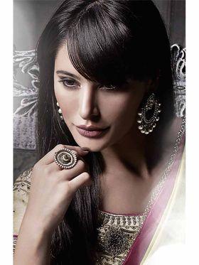 Viva N Diva Satin Embroidered Saree -Dramatic-5106