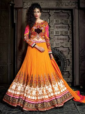 Viva N Diva Banarasi Silk Jacquard Floral Embroidery Lehenga -Ehsaas-602
