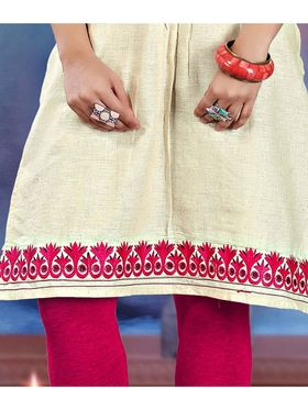 Pack of 2 Viva N Diva Emboridered�? Khadi Cotton Kurti -vna04