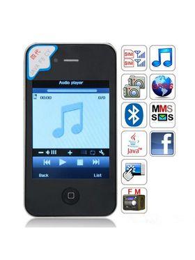 Smartphone F8 3.2-Inch Touch Screen - Black